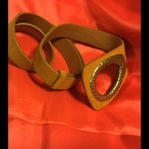 """Beautiful tobacco suede belt expands to 46"""""""